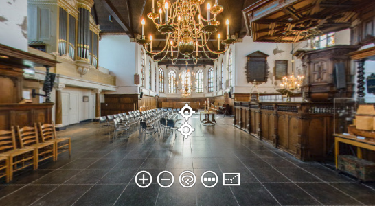 Kerk 360 graden fotografie virtual reality